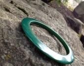 Forest Green Vintage Bakelite Bangle bakelite Bracelet