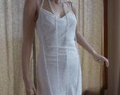 Wedding dress vintage inspired 1920s 1930s flapper weding dress