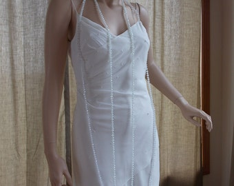 Wedding dress vintage inspired 1920s 1930s flapper weding dress