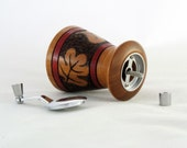 Mini Pepper Mill or Salt Grinder in Mahogany Wood