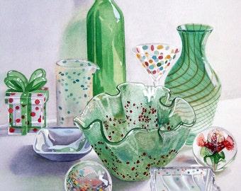 I SEE SPOTS - original watercolor painting