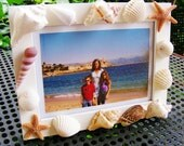 Sea Shell and Starfish Beach Picture Frame White  5 x 7