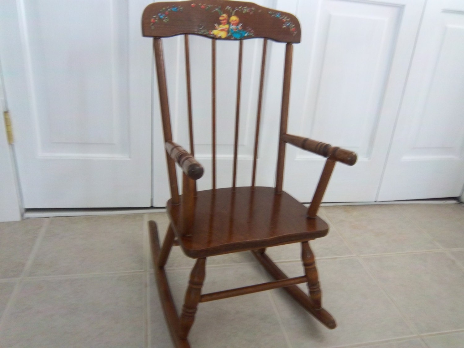 Enjoyable Vintage 1960S Maple Hedstrom Childs Rocking Chair Haute Juice Beatyapartments Chair Design Images Beatyapartmentscom
