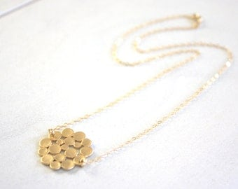 Gold Necklace, Gold Bubble Necklace, Circle Necklace, Dainty Gold Necklace, Bridesmaid Necklace, Gifts for Her, Best Friend Gifts Birthday