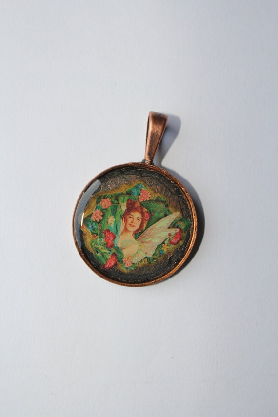 Charm necklace, cameo necklace, Horse charm necklace, vintage necklace, Fairy necklace, Horse picture, cameo