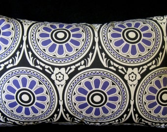 HGTV Ring Around Periwinkle pillow cover 14 X 24