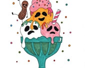 "Ghost Sundae - As seen on ModCloth - 8""x10"" print"