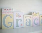 Baby Name Blocks . Nursery Name Blocks . Nursery Decor . Baby Letter Blocks . Wood Name Blocks . Bedding