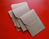 Set of Six Fold and Tuck Envelopes / Choice of Two Colors