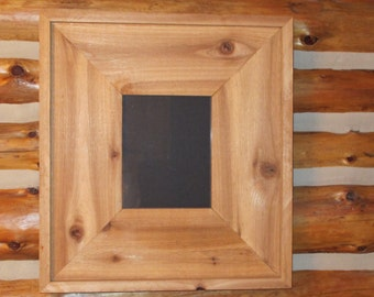 Rough Cut Cedar Wood Frame