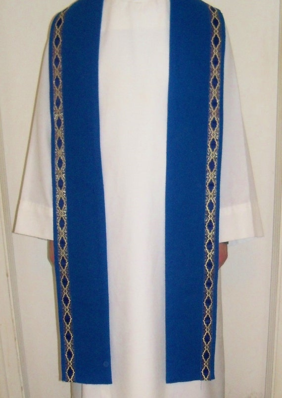 handmade clergy stoles clergy stole handmade blue advent gift idea 4653
