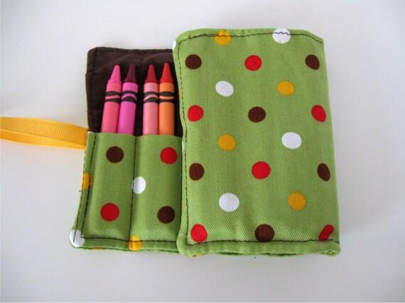 Custom Listing for Nina. Crayon Roll with 16 Crayons. Sailing flags print.