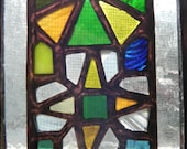 Emerald Kaleidoscope Stained Glass Panel