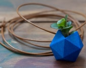 Icosahedron Wearable Planter in Ultramarine