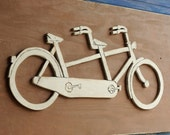 Tandem Bicycle Art Wooden Large Bicycle Sign Bike Decor Bicycle Built for Two Bicycle Wall Art