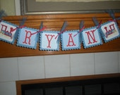 Name Banner Nursery Wall Decor You Choose Your Colors and Design