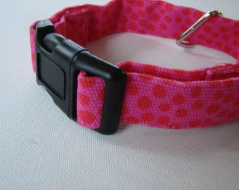 Marimekko Pink Pirput Parput  canvas dog collar, Finland