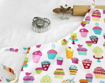 Sprinkles Cupcakes Adult Apron - white