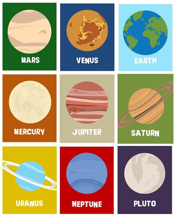 what are the colors of the planets in the telling order colors - photo #41