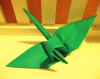 "100 6"" Dark Green origami paper cranes wedding party decoration"