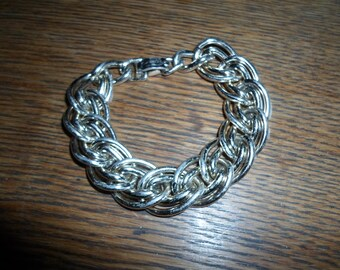 Vintage Gold Tone Bracelet Large Link Western Germany Eloxal 1950s to 1970s Lightweight