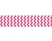 "STORE CLOSING Sale Riley Blake Sew Together Hot Pink Chevron 7/8"" Grosgrain Ribbon 1 yard"