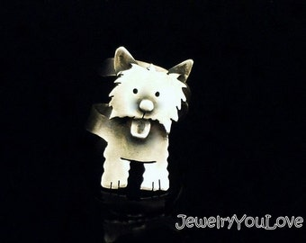 Sterling Silver West Highland Terrier ( Westie) - Snow Ball