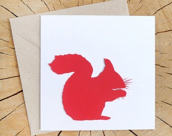SQUIRREL | paper cutting greetings card