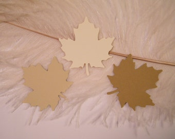 Gift Tags // Medium Fall Maple Leaves //  100 Blank DIY Gift Tags - Sand -Ivory -Coffee- Favor Tags- Vintage Wedding Wish Tree Tags