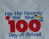 100th Day of School Shirts , Sizes 2T -5/6, Short or Long Sleeves