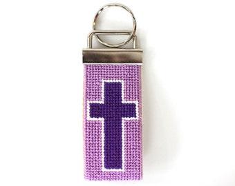 Needlepoint Kit, Christian Key Fob