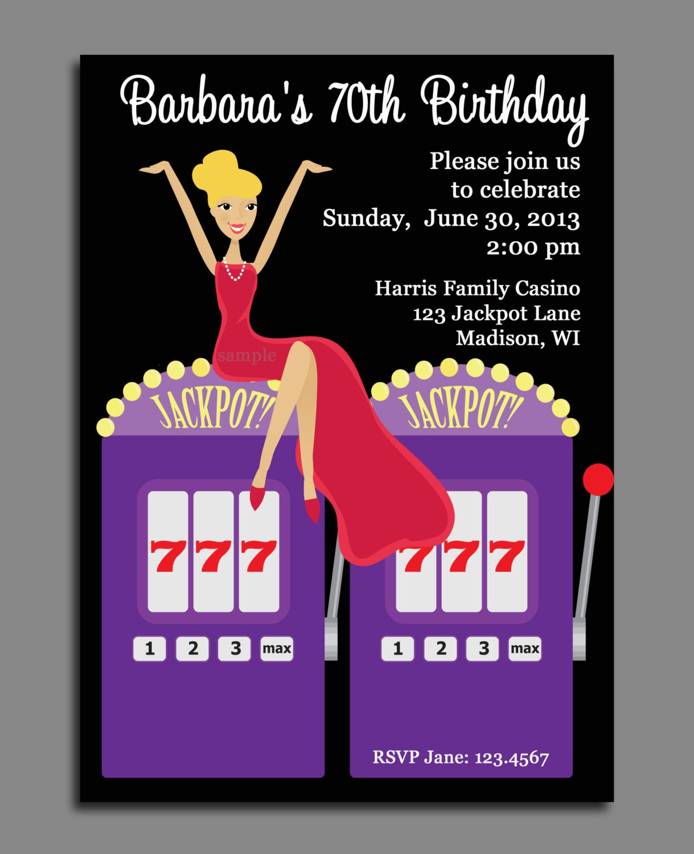 Free printable casino birthday party invitations - Tulalip casino ...