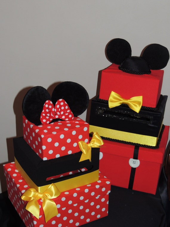 Items Similar To Mickey Mouse Card Box Mickey Mouse