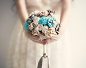 Fabric Bridal Bouquet, Wedding Fabric Bouquet - MySecretFace