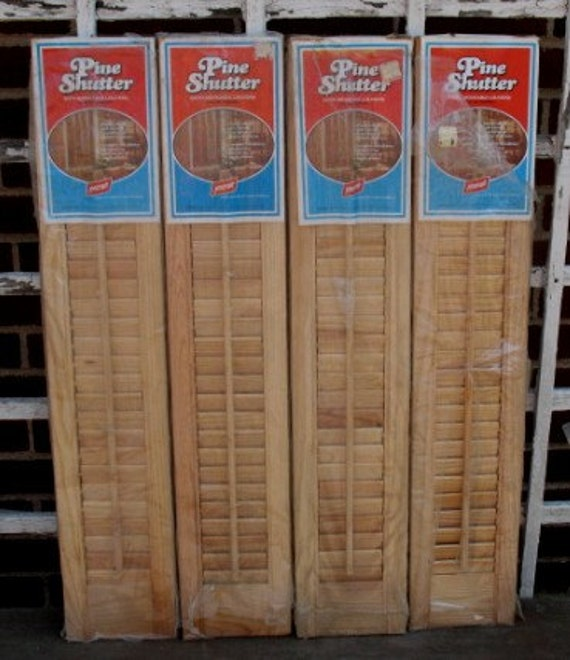 9 panels interior wood louver shutters plantation shutters - Unfinished wood shutters interior ...