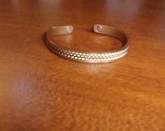 vintage bracelet solid copper cuff