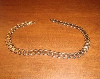 vintage necklace choker goldtone chain