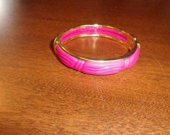 vintage bracelet bangle pink hinged