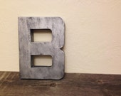 "The Original Faux 'Zinc' Metal Block Letter - 12"" - ANY LETTER or COLOR"