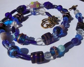 Peace and Love blue Necklace  200