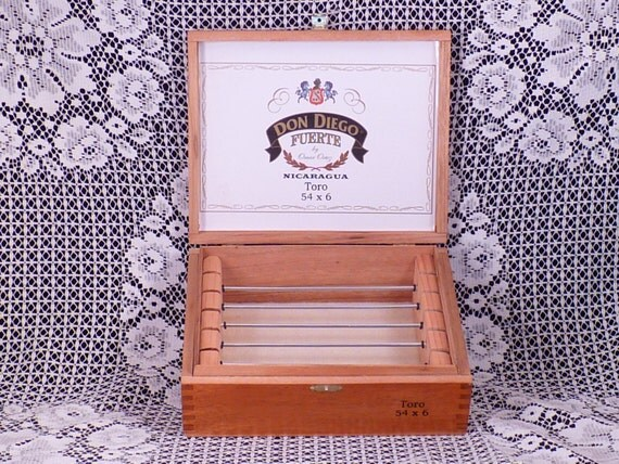 DON DIEGO FUERTE Cigar Box Jewelry Box for European Style Large Hole Beads and Accessories