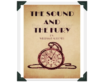 The Sound and the Fury by William Faulkner - 8x10 Book Cover Minimalist Art Print Beige