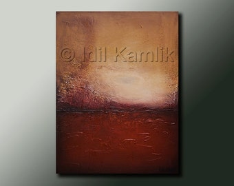 Modern Abstract Original PAINTING Contemporary Fine Art  Heavily Textured by Idil Kamlik