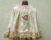 Romantic Victorian Cape Designed by KheGreen Bohemian French Country Eco Friendly Made to Order only