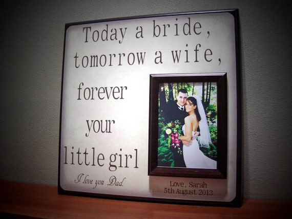 Today a Bride & Today A Groom WEDDING FRAME SET, Parents Wedding Gift ...