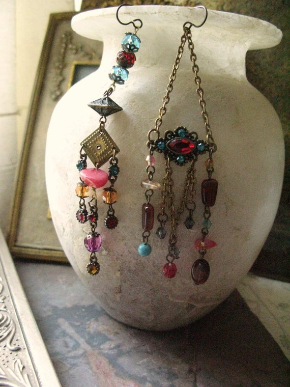 Gypsy Earrings: Unique Jewelry Eco Friendly artisan handcrafted jewelry handmade jewellery Tribal Gypsy Gipsy