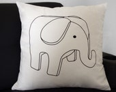 "Yunny-Phant pillow cover (for 20"" x 20"" pillow)"
