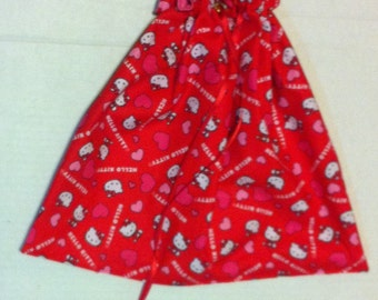Large Hello Kitty Drawstring Knitting Project Bag