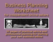 Business Planning Worksheet - Prepare to Start Your Own Online Business with This PDF Planning Guide