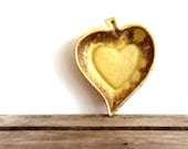 Half Price Clearance Snack Bowl Kitch Leaf Serving Dish Yellow Leaf or Heart